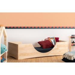 Dětská postel z borovicového dřeva Adeko Pepe Bork,80x200cm