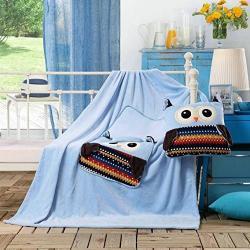 Dětská deka z mikrovlákna DecoKing Owl modrá