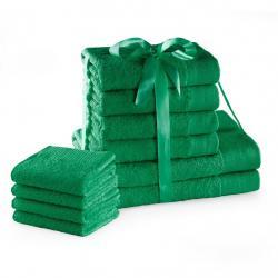 Amelia Home Sada bavlněných ručníků AmeliaHome AMARI 2+4+4 ks zelená