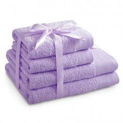 Amelia Home Sada bavlněných ručníků AmeliaHome AMARI šeříková