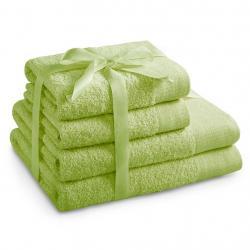 Amelia Home Sada bavlněných ručníků AmeliaHome AMARI světle zelená