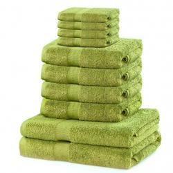 Set ručníků DecoKing Kunis světle zelené