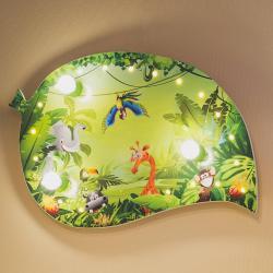 Elobra Dětské nástěnné světlo Wildnis, LED efekty