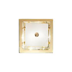 AUSTROLUX BY KOLARZ Stropní světlo Ontario, 39 x 39 cm, zlatá