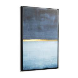 Modrý obraz v rámu La Forma Abstract, 60 x 90 cm