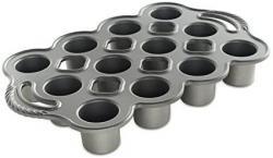 Pečicí forma Nordic Ware Popover, plát s 12 muffiny, stříbrná, 0,7 l