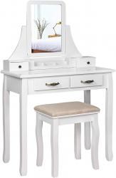 Rongomic Toaletní stolek Taťána bílý