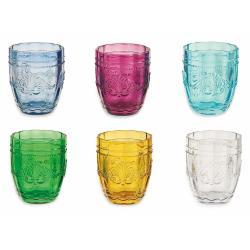 Sada 6 barevných sklenic na vodu Villa'd Este Bicchieri Syrah, 235 ml