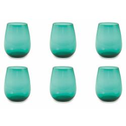 Sada 6 akvamarínově modrých pohárů Villad'Este Happy Hour