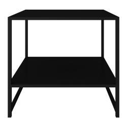 Černý kovový odkládací stolek Canett Lite, 50 x 50 cm