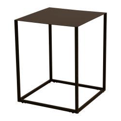 Černý kovový odkládací stolek Canett Lite, 40 x 40 cm