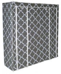 TZB Textilní skříň s 12 policemi KAJA MIDI šedá