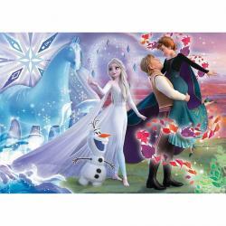 Trefl Puzzle Ledové království Svět sester, 200 dílků