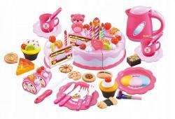 MULTISTORE Plastová sada dort+doplňky 80 kusů