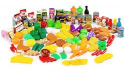 ECOTOYS Plastová zelenina, ovoce a potraviny do kuchyně GoodHome - 120 kusů