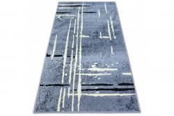 3kraft Kusový koberec BCF BASE FUZZY 3909 LINE šedý/černý