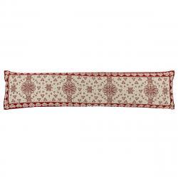 Boma Trading Ozdobný těsnící polštář do oken Srdíčka červená, 22 x 90 cm