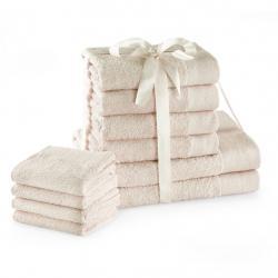 Amelia Home Sada bavlněných ručníků AmeliaHome AMARI 2+4+4 ks ecru
