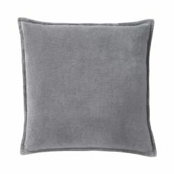 COTTON VELVET Polštář sametový 45 x 45 cm - šedá