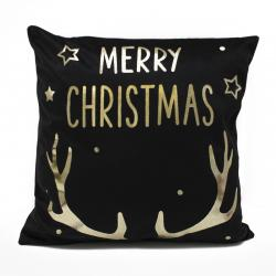 Domarex Povlak na polštářek Merry Christmas černá, 45 x 45 cm
