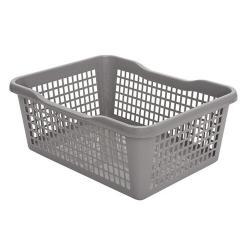 Aldo Plastový košík 47,5 x 37,8 x 20,8 cm, šedá