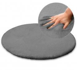 Tutumi Kulatý koberec Rabbit 100cm šedý