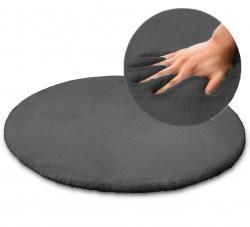 Tutumi Kulatý koberec Rabbit 100cm tmavě šedý