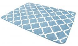 Tutumi Plyšový koberec Clover Baroc modrý