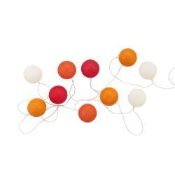 IN THE MOOD Světelný řetěz 10 koulí - červená/oranžová/bílá