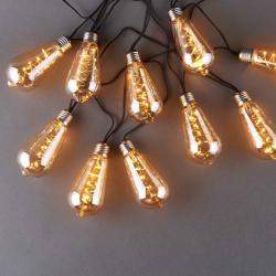 BULB LIGHT Světelný řetěz žárovky tónované 10 světel