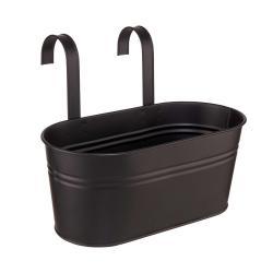 ZINC Květináč na zavěšení 33 cm - černá