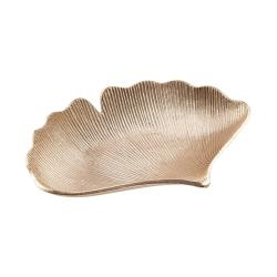 GOLDEN NATURE Dekorační miska list gingko
