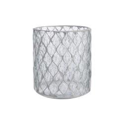 SHIMMER&SHINE Svícen na čajovou svíčku 12,5 cm - čirá