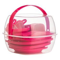 Růžový piknikový set Premier Housewares Summer, 51 ks