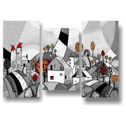 3dílný obraz na plátně Tomasucci Landscape, 105x150cm
