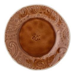 Červenohnědý dezertní talíř z kameniny Bloomingville Rani,ø20cm