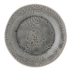 Šedý talíř z kameniny Bloomingville Rani,ø26,5cm