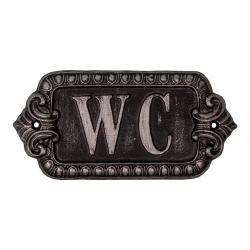 Kovový symbol na toaletu Antic Line Plaque,délka17,5cm