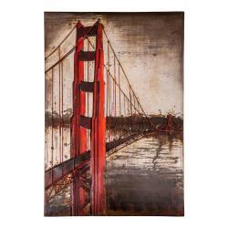 Plechová cedule Antic Line San Francisco,80x120cm