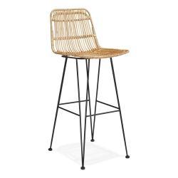 Přírodní barová židle KokoonLiano, výška sedáku 75cm