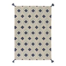 Béžovo-modrý vlněný koberec Flair Rugs Marco, 200 x 290 cm