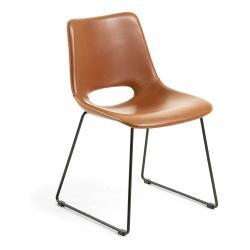 Hnědá jídelní židle La Forma Zahara