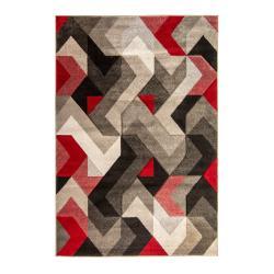 Červeno-šedý koberec Flair Rugs Aurora, 120 x 170 cm