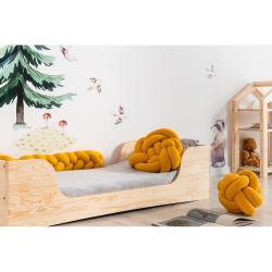 Hořčicově žlutý bavlněný polštář 3v1 Adeko