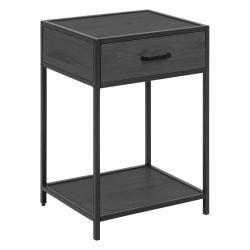 Černý noční stolek Actona Seaford