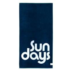 Modrá plážová osuška Sunnylife Nouveau Bleu