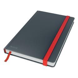 Šedý zápisník s hebkým povrchem Leitz, 80 stran