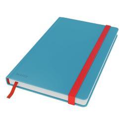 Modrý zápisník s hebkým povrchem Leitz, 80 stran