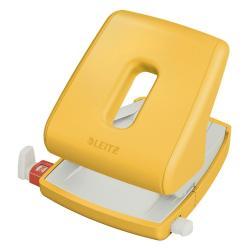 Žlutá kancelářská děrovačka Leitz Cosy