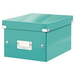 Tyrkysové zelená úložná krabice Leitz Universal, délka 28 cm